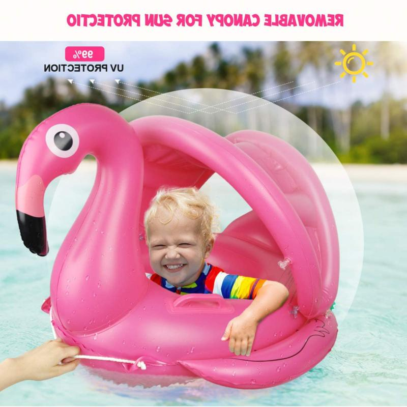 Baby Pool Canopy Inflatable Pool Floaties Boat with