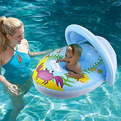 IAMGlobal Baby Float with Canopy, Swimming Baby