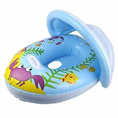 baby pool float with canopy swimming floats
