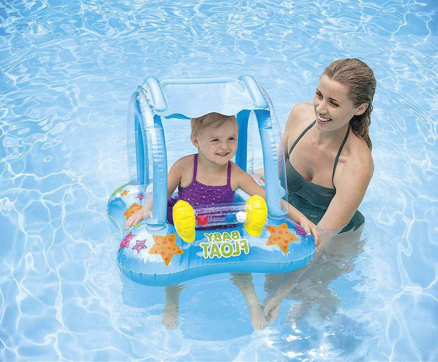 Baby Pool Canopy Floaties For Toddler Babies Kiddie
