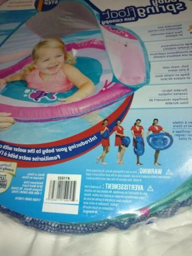 Baby Float Activity Center Raft w Canopy girls pink