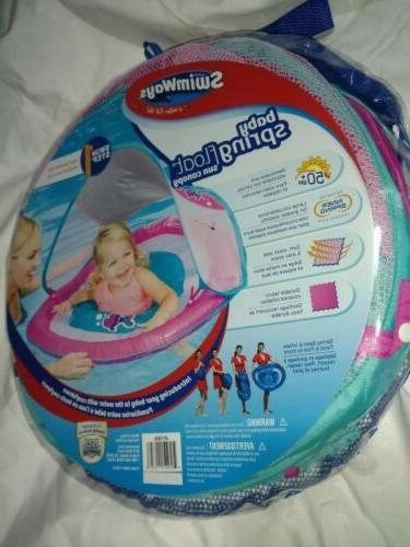 Baby Pool Spring Float Activity Center Raft w Sun girls pink