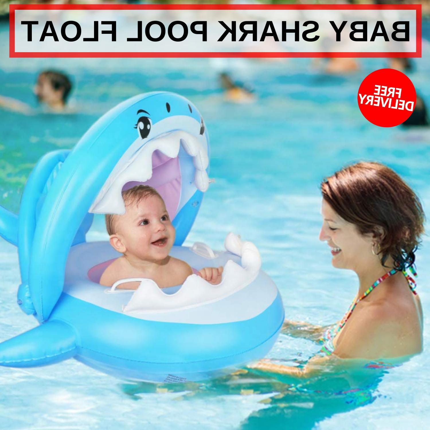 Baby Shark Pool Float With Removable Inflated Canopy For Kid