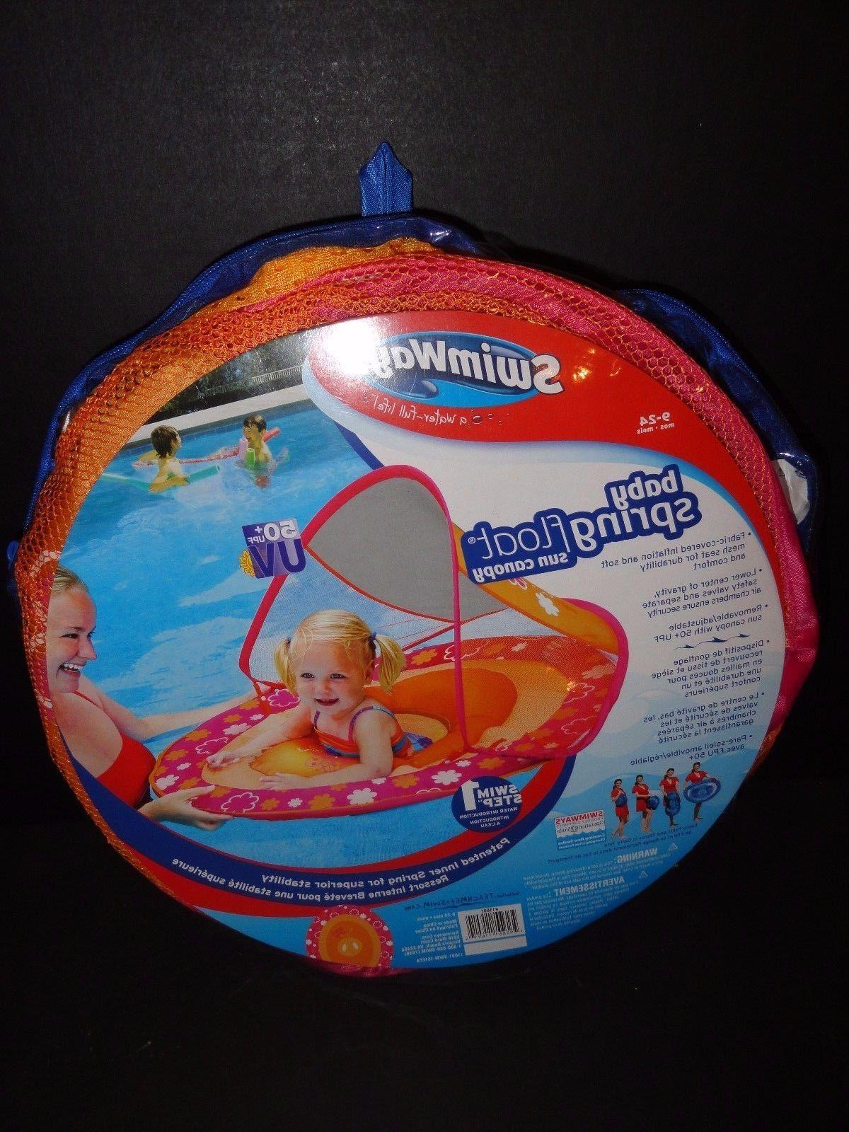 baby spring float sun canopy multi color