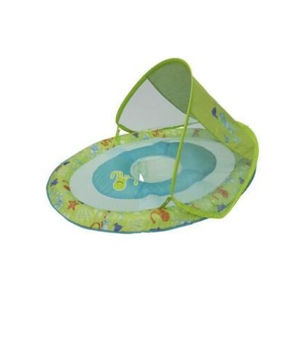 baby spring float with canopy upf 50