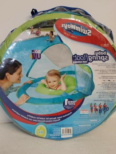 baby spring float with sun canopy 50