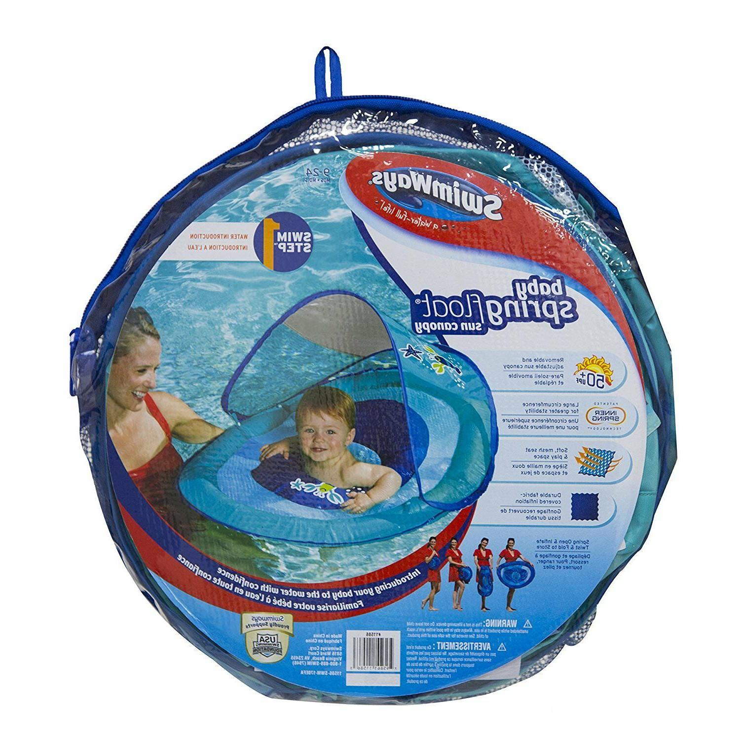 baby spring pool float sun canopy kids