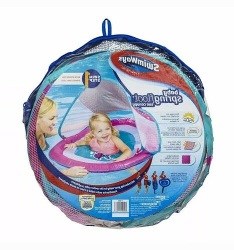 Swimways Float Sun Canopy Pink Life Fish 9-24 Months