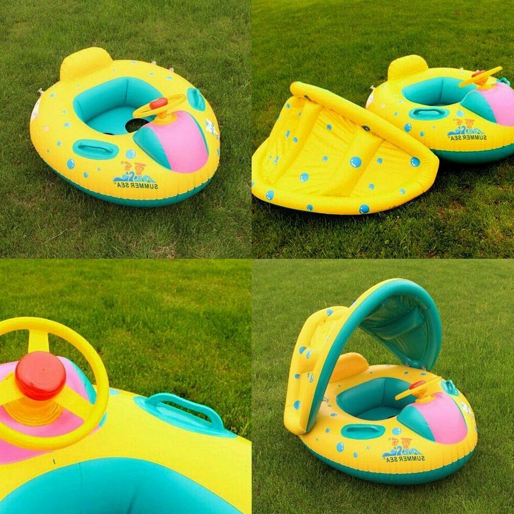 Baby Swimming Pool Boat Canopy for Kids Mon