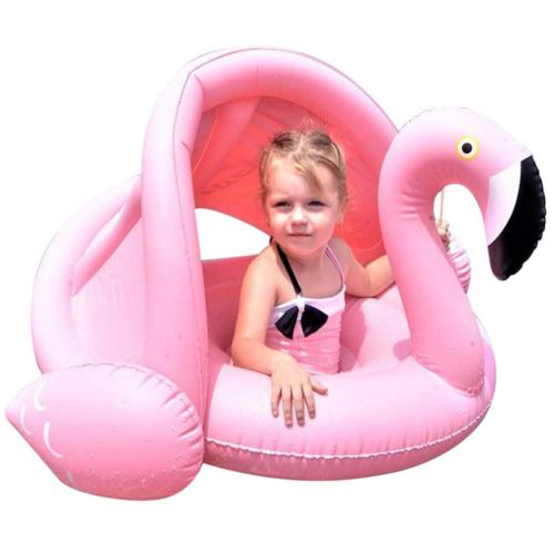 Baby Toddler Pool Float with Canopy Inflatable Swimming Ring