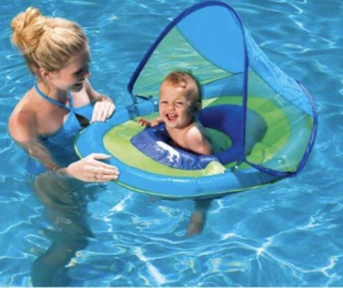 Blue SwimWays Baby Spring Float Canopy Float
