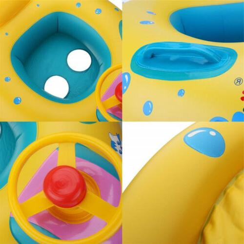 CASA MALL Baby Swimming Pool Canopy Inflatable Swim Seat US