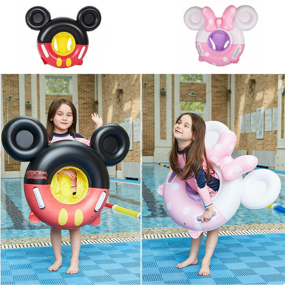 cute micky inflatable baby toddlers swimming seat
