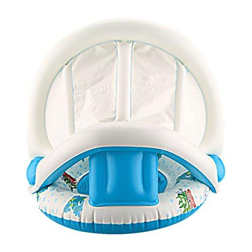 Dual Person Baby Pool Float Swimming Canopy
