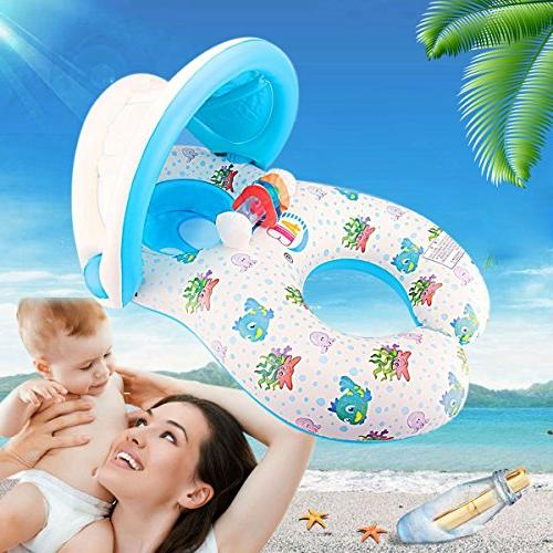 Dual Person Baby Baby Pool Float Swimming Canopy
