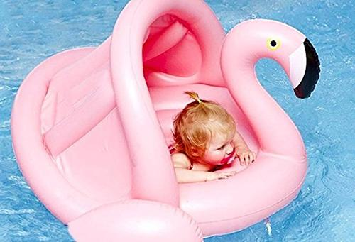 Weefloat Flamingo with Canopy Float - Popular Baby Swimming Float