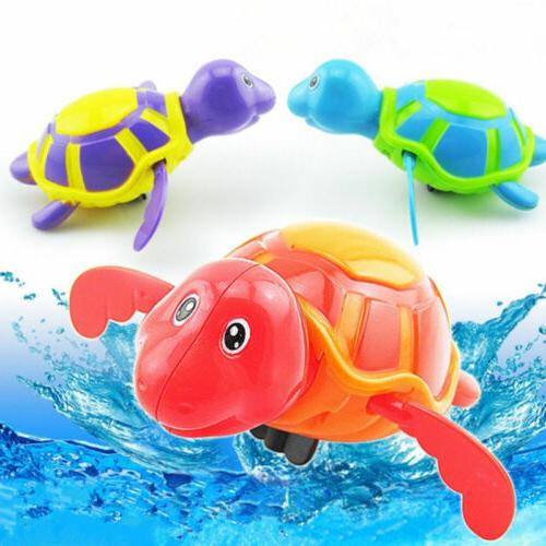 Floating toy Pool Wind Up Baby Cute Swimming Tub Bathtub Toys