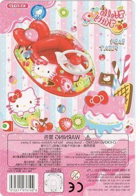 hello kitty baby swimming red safety floating