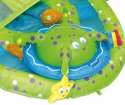 SwimWays Baby Octopus Pool Float Activity Center with Canopy