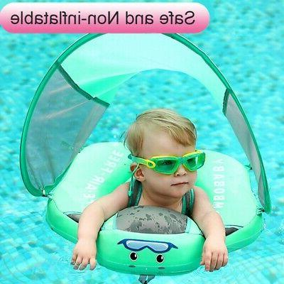 US Baby Swimming Non-inflatable Float Floats Sunshade Canopy