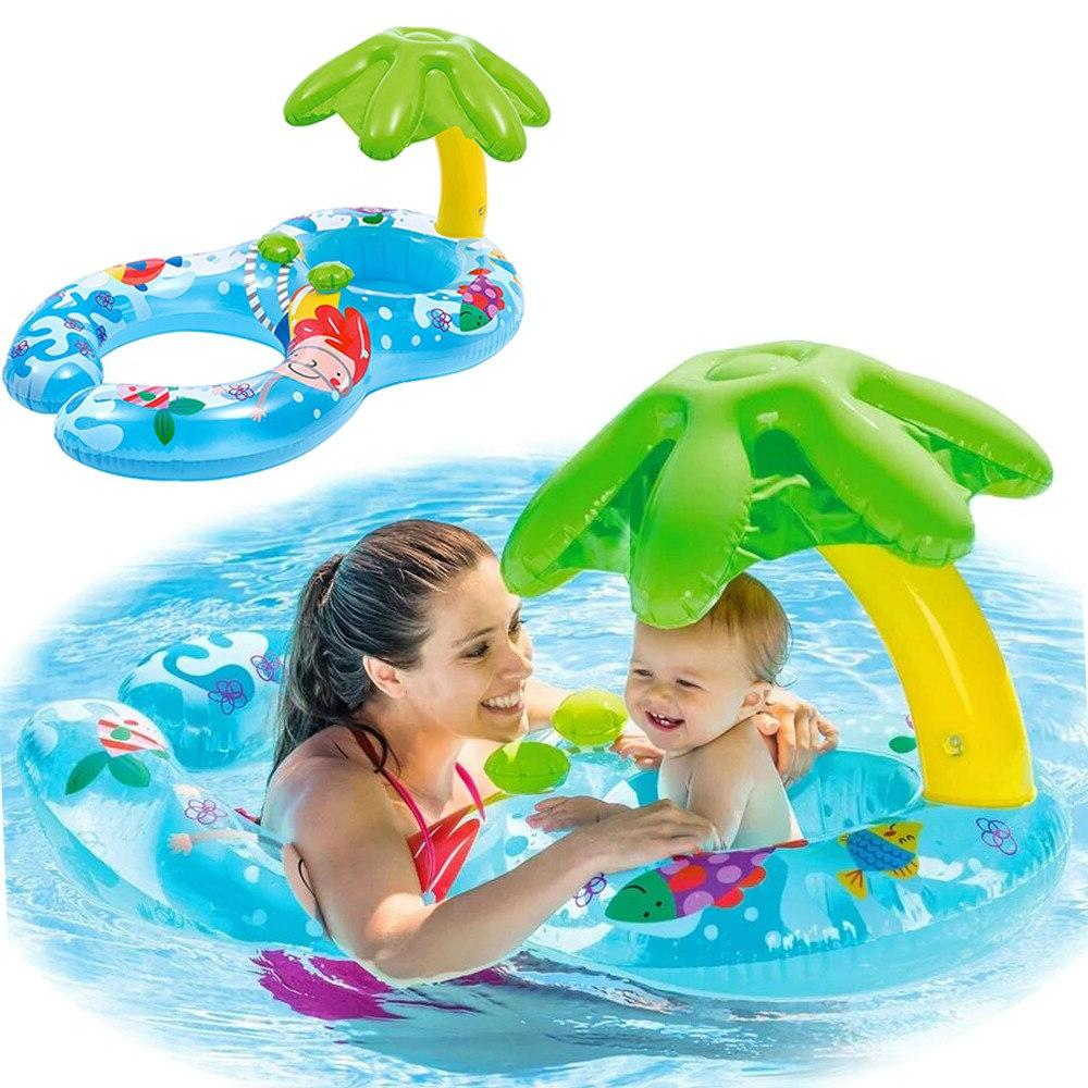 DMAR Ring Toys <font><b>With</b></font> <font><b>Canopy</b></font> Sea Mattress Party Activity Flamingo