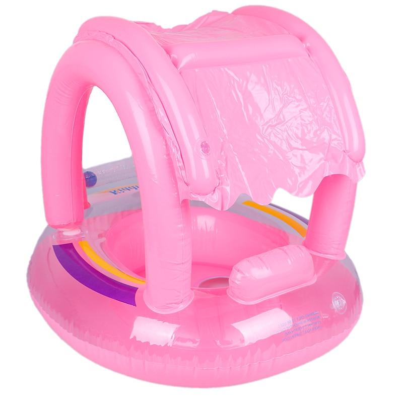 Inflatable <font><b>Baby</b></font> <font><b>Canopy</b></font> <font><b>Pool</b></font> <font><b>Float</b></font> for Kids Ring fo Toys