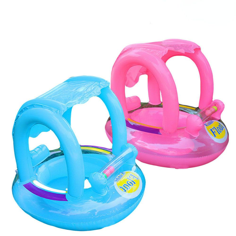 Inflatable Canopy Kids Swimming Ring for Baby