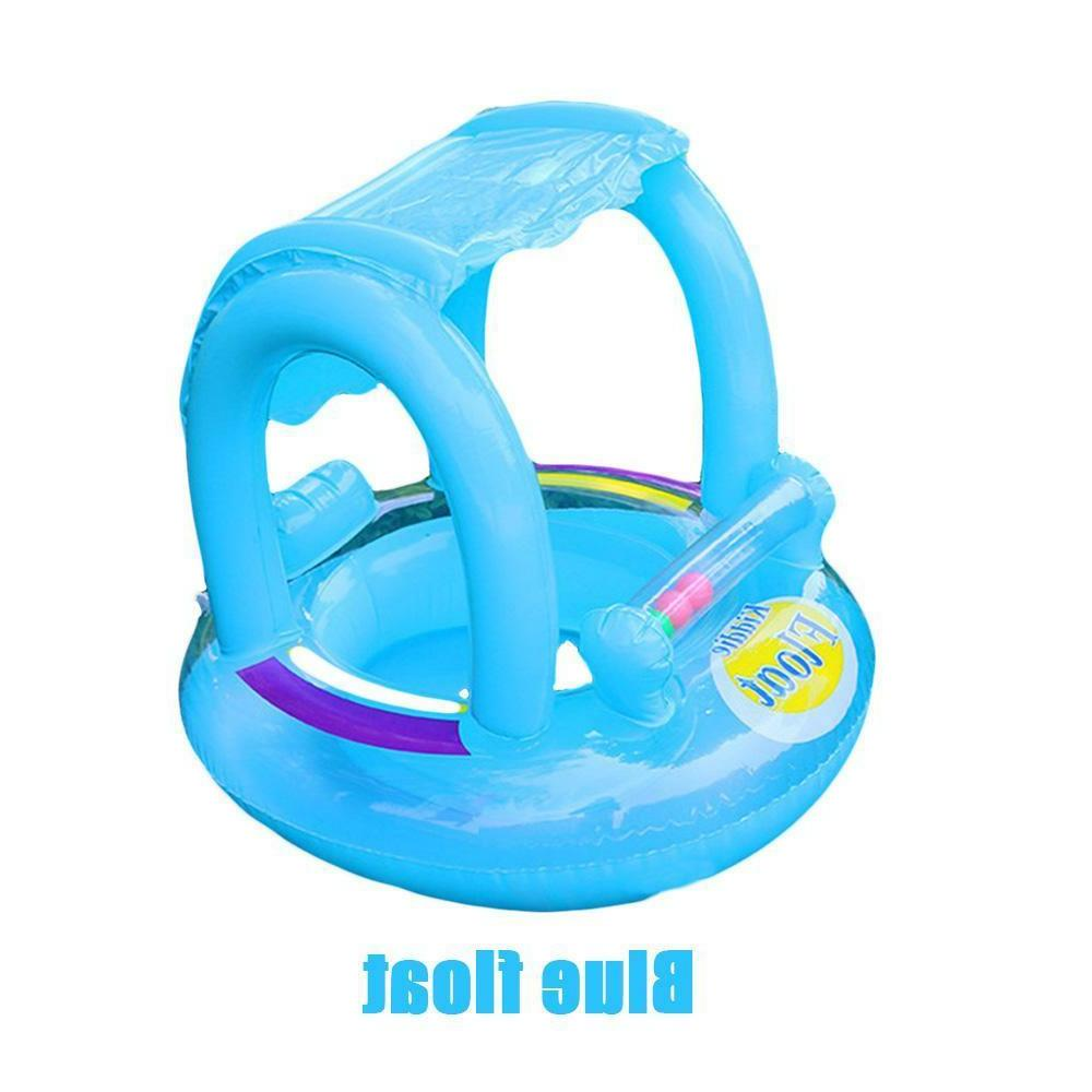 Inflatable Canopy Swimming Ring for Baby