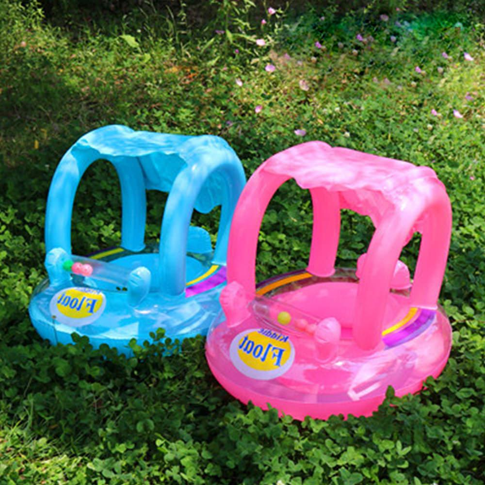 Inflatable Float Canopy Ring for Baby Swimming