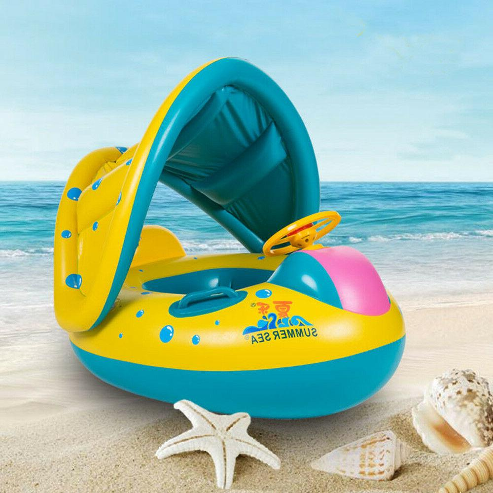 Inflatable Pool Ring Boat Seat Baby Raft 4S