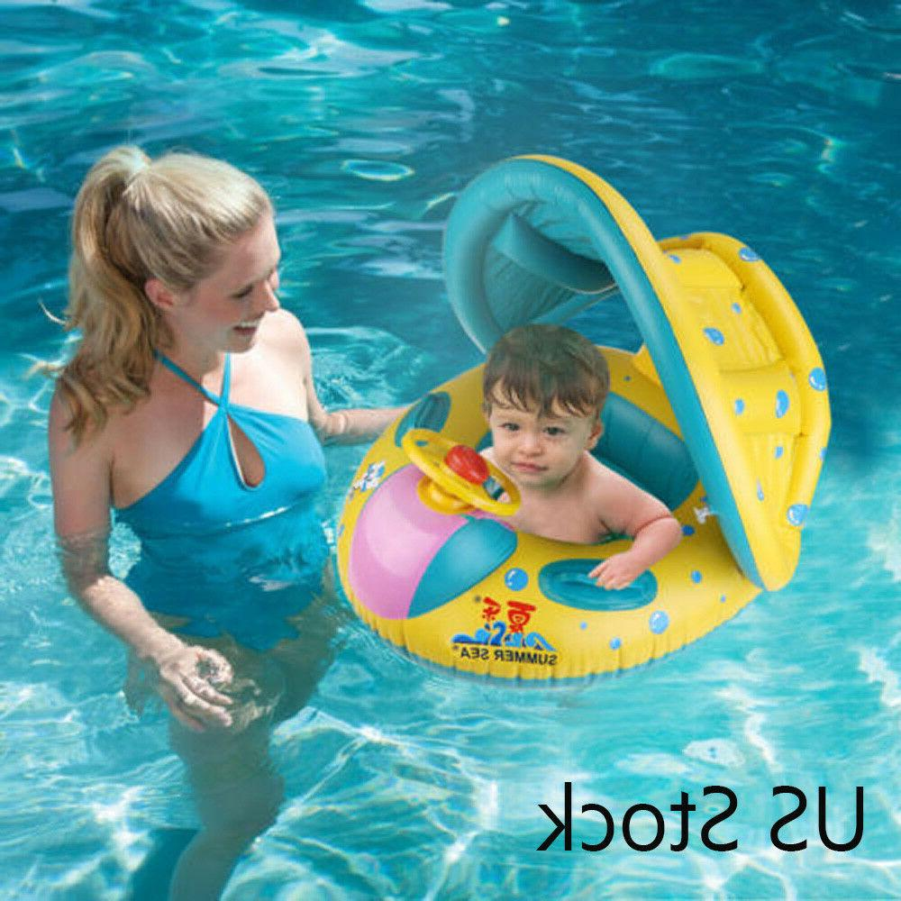 inflatable sunshade swimming pool ring float boat