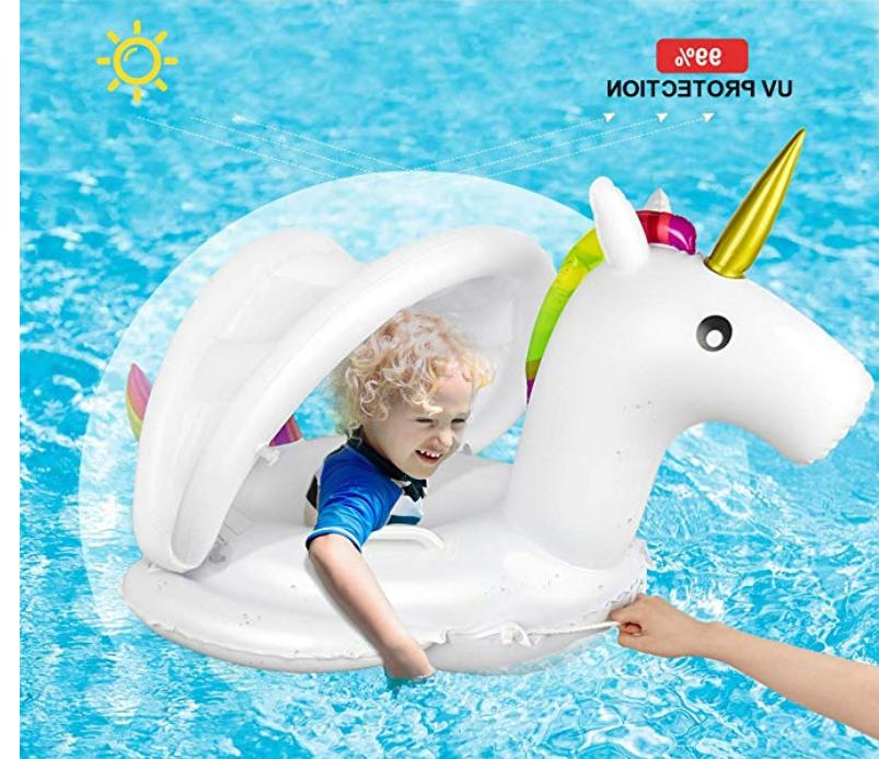 Inflatable Float Ring Seat Canopy