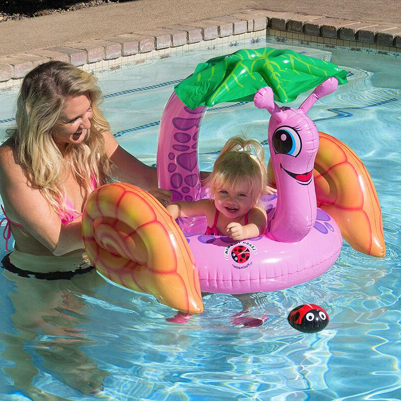 learn to swim snail baby rider swimming