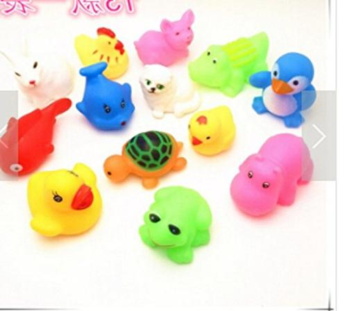 mixed different animal bath toys