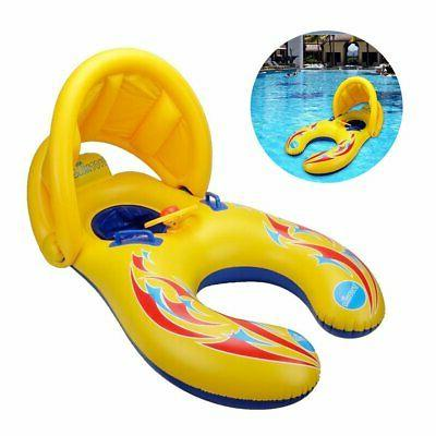 Mother and Baby Inflatable Swimming Float with Removable Saf