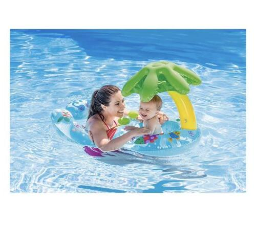 my first inflatable baby swim float ages