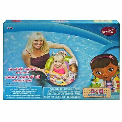 my first ride in baby swim float