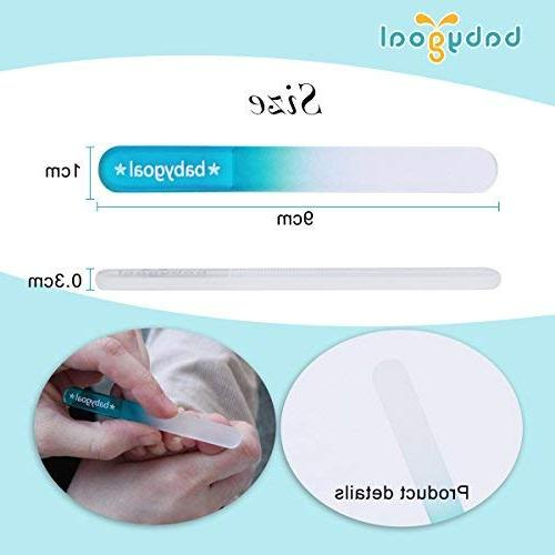 Babygoal Nail File Baby Nail Pack with a Czech Float Shower Gift Newborns,Toddlers,Infant, Babies Shower Gift 3NF02-US