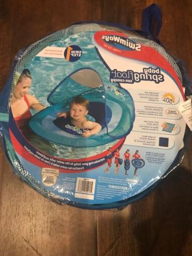 new baby spring float sun canopy blue