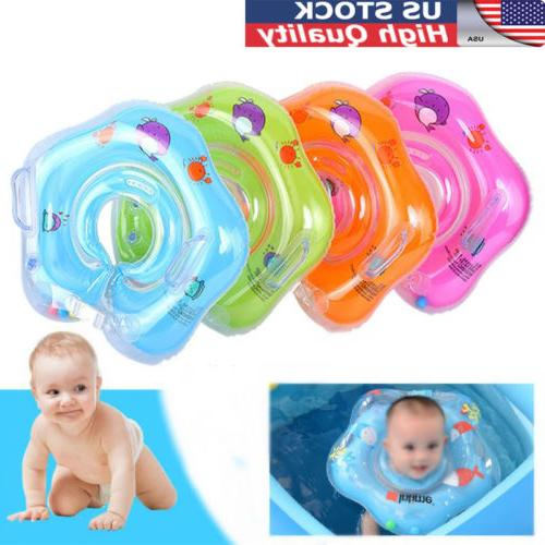 newborn infant inflatable baby swim neck float