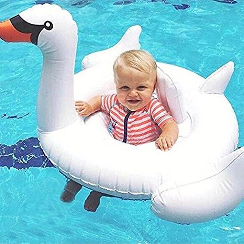 Loveyikee Flamingo Swan Float Inflatable Ring Kids for Play Baby