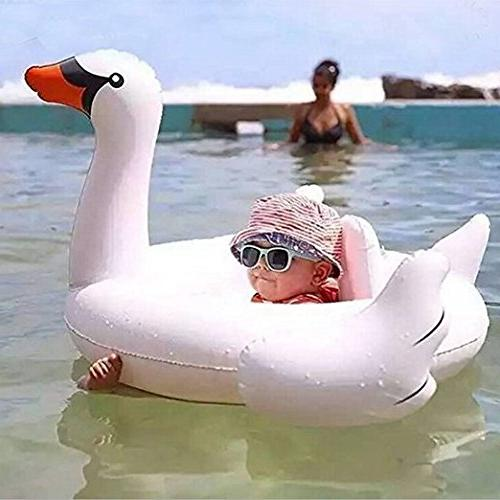 Loveyikee Swan Swim Ride-On Float Swimming Pool Inflatable Swimming for Kids for Summer Play Baby