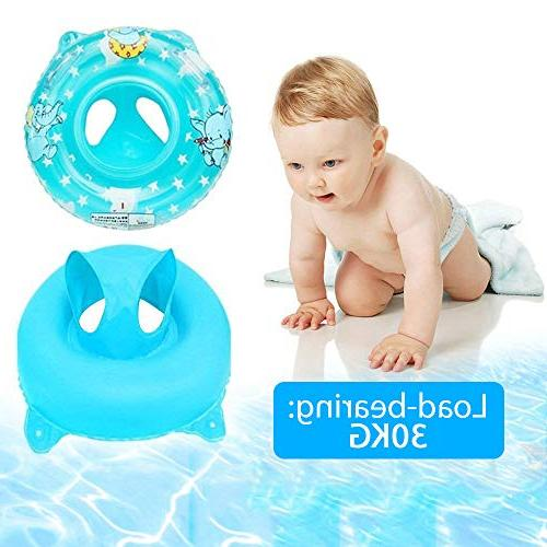 Baby 3-36 month Kids Double Handle,Infant Inflatable Swim Ring Float Swimming for Baby Pool,Bathtub,Outdoor