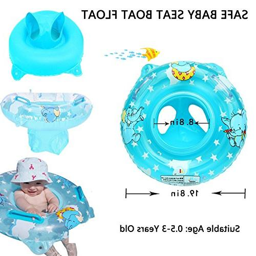 Baby Pool Float 3-36 Kids with Double Swim Ring Float Tube,Bathtub Swimming Accessories Baby Kids