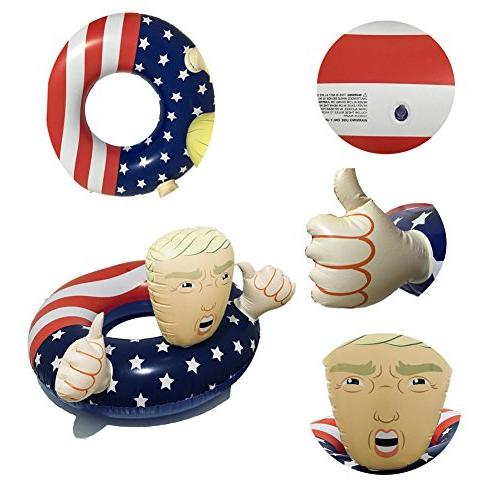 BOSST Pool Float Trump American Flag Float Floats 1pack