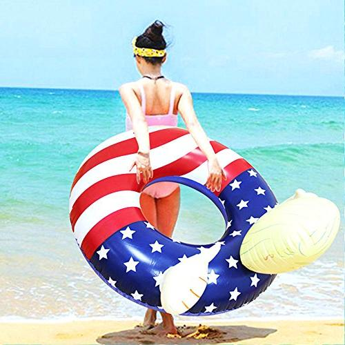 BOSST Trump American Flag Float Portable Floats Outdoor 1pack