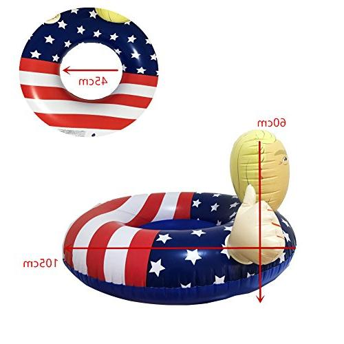 BOSST Pool Trump Flag Inflatable Float Floats Rafts Outdoor 1pack