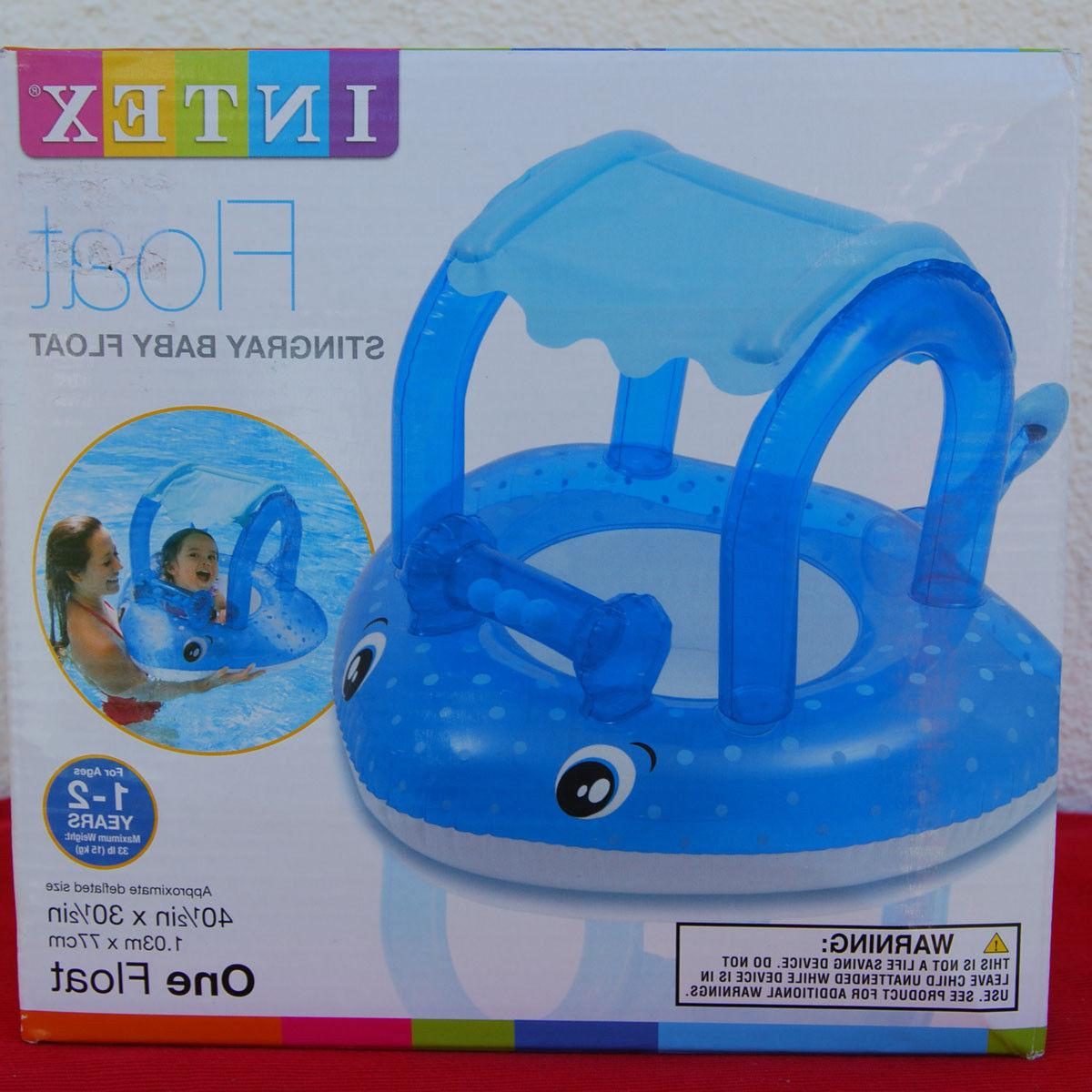 ride on baby stingray float with canopy