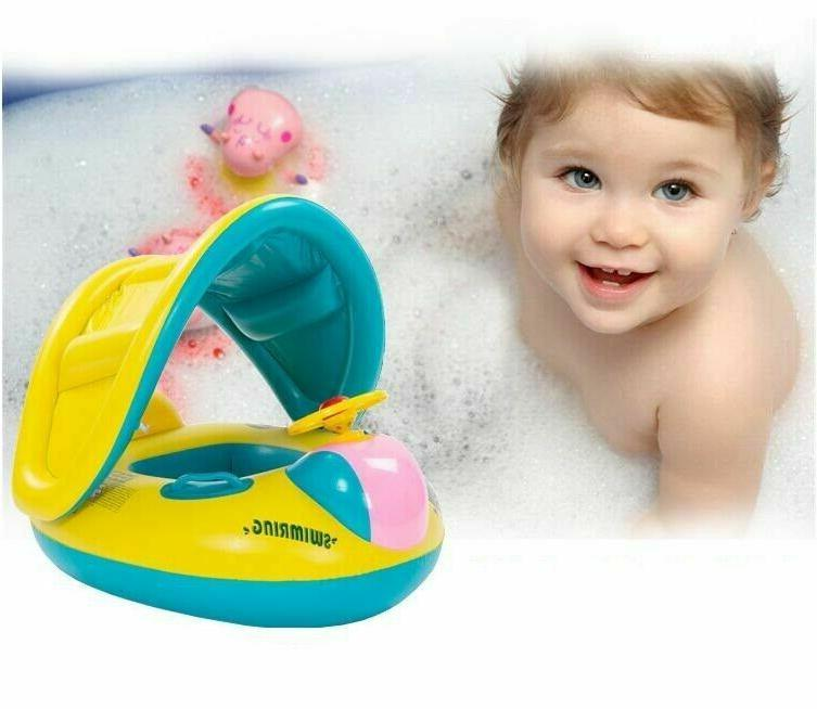Sea Baby Ring Inflatable Pool Water Seat Canopy