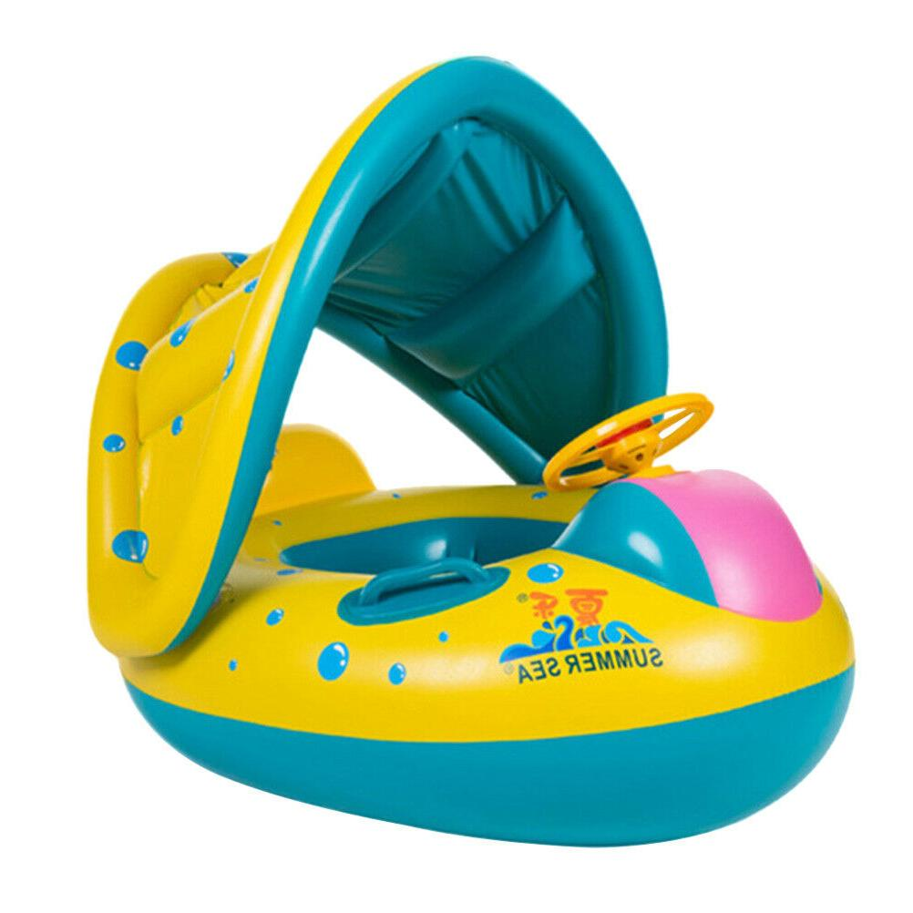 Summer Swim Inflatable Pool Water Seat Canopy